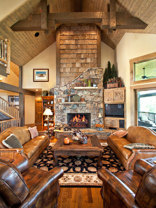 Living room corner houzz for Country living 500 kitchen ideas