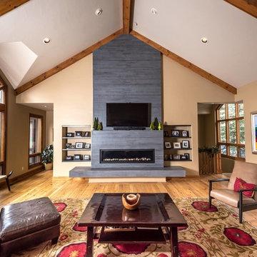 Mountain Modern Fireplace