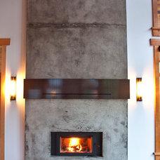 Rustic Living Room by Larsen Whelan Ent Ltd