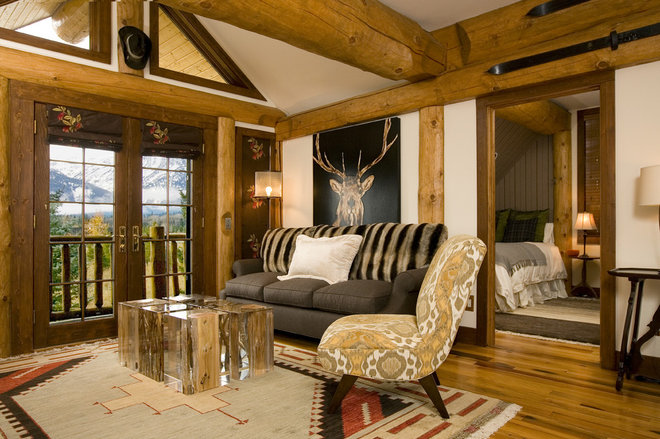 Rustic Living Room by Grace Home Design, Inc.
