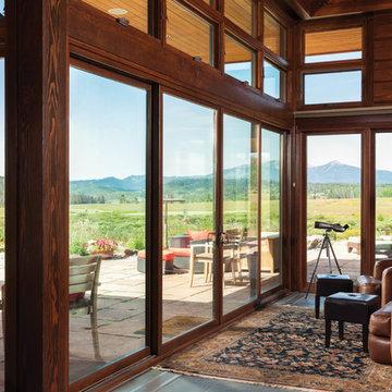 Mountain Modern Log Home: The Hahn's Peak Residence - Great Room