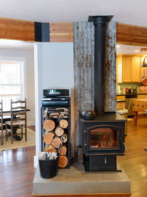 Wood Stove Design Ideas wood stove hearth rendition 800x1200jpg Eclectic Open Concept Living Room Photo With Medium Tone Hardwood Floors And A Wood Stove