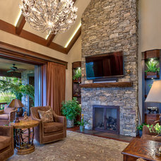 Rustic Living Room by ACM Design
