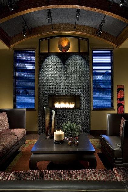 Contemporary Living Room by Debra May Himes Interior Design & Associates, LLC