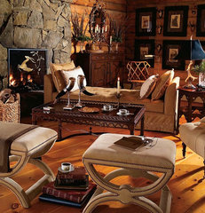 traditional living room Mountain Retreat