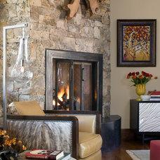 Rustic Living Room by Studio 80 Interior Design