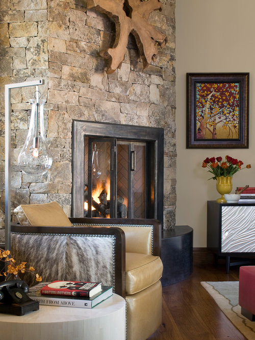 Stone Around Fireplace Home Design Ideas