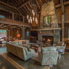Rustic Living Room by Vintage Lumber Sales