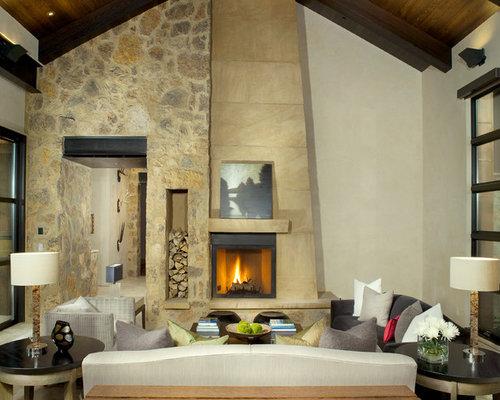 Fireplace Storage storage around fireplace | houzz