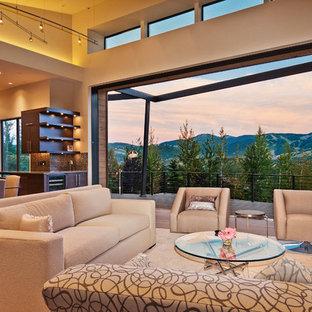 Inspiration for a modern living room remodel in Salt Lake City
