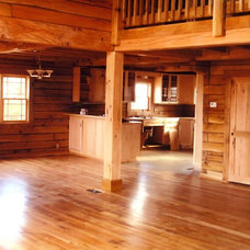 Traditional Living Room by Schutt Log Homes