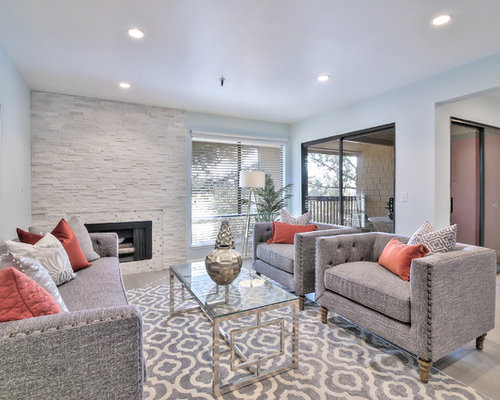 Living Room   Transitional Formal And Enclosed Gray Floor Living Room Idea  In San Francisco With