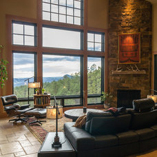 Rustic Living Room by Kogan Builders