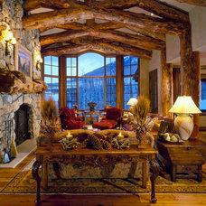 Rustic Living Room by Paula Berg Design Associates