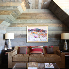 eclectic living room by Bradley E Heppner Architecture, LLC