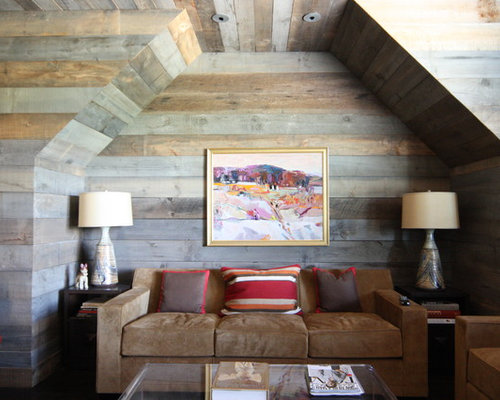 Barn wood wall design ideas remodel pictures houzz - Wood walls in living room ...