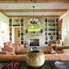 Farmhouse Living Room by Bradley E Heppner Architecture, LLC