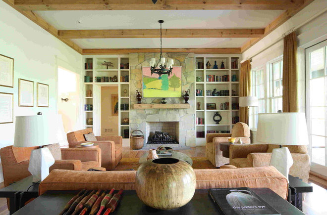 Farmhouse Living Room by Bradley E Heppner Architecture, LLC