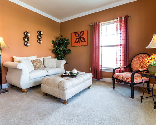 Spiced cider houzz Model home family room pictures