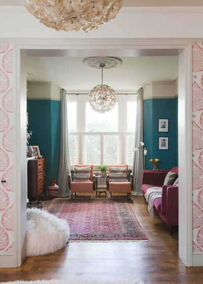 Eclectic Living Room by Brooke Copp-Barton   Home Interior Design