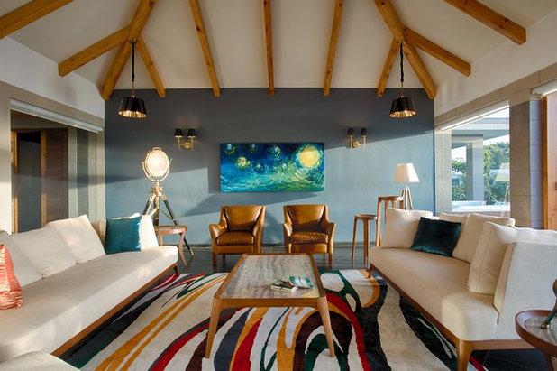 Contemporary Family Room by KSUP STUDIO