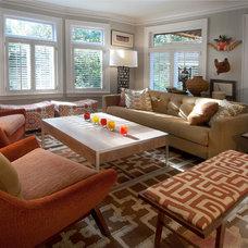 Eclectic Living Room by Karen Ellentuck. ASID