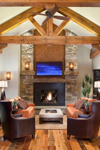 Rustic Living Room by kPd Studios | Kristine Pivarnik Design, LLC