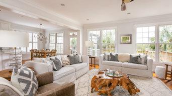Mt. Pleasant Living Room, Kitchen & Patio Makover