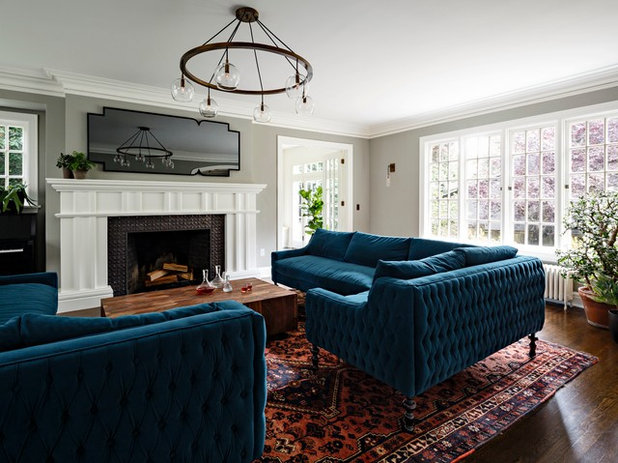 Contemporary Living Room by Jessica Helgerson Interior Design