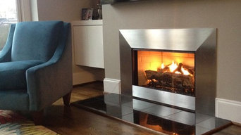 Mucha fireplace makeover