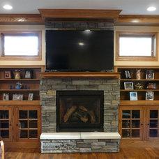 Craftsman Living Room by K.L. Design