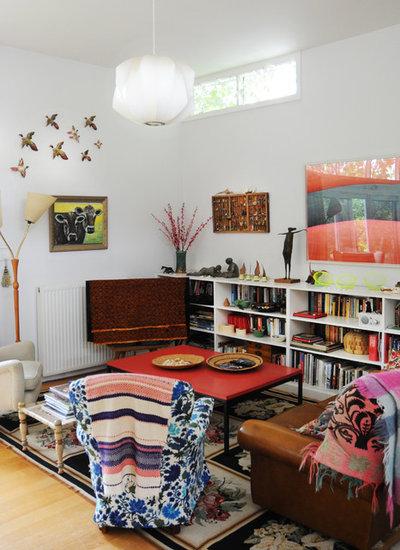 エクレクティック リビング・居間 by Luci.D Interiors