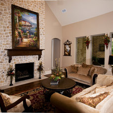 Traditional Living Room by Sterling Brook Custom Homes