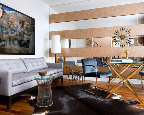 Mid Sized Modern Enclosed Living Room Idea In Toronto