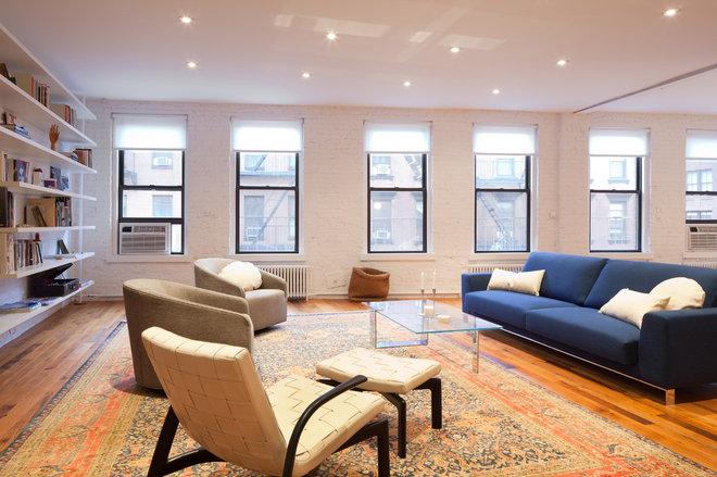 Contemporary Living Room by I-Beam Design