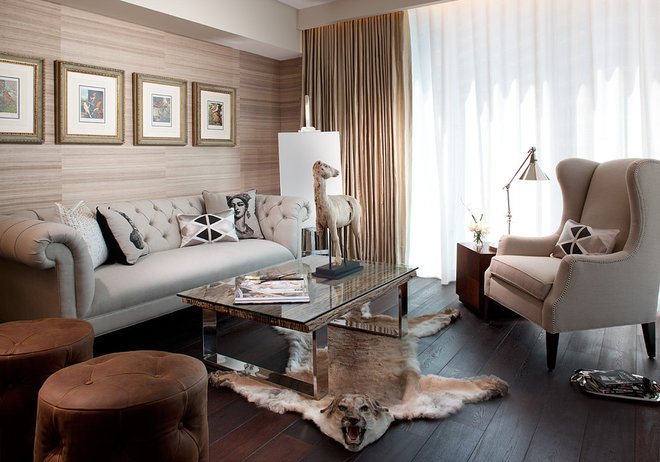 Transitional Living Room by RS3 DESIGNS