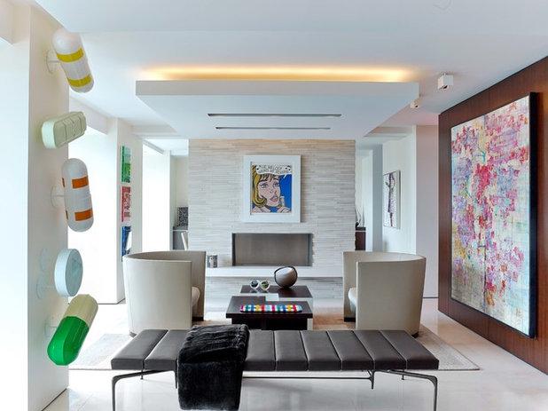 Contemporain Salon by Hariri & Hariri Architecture