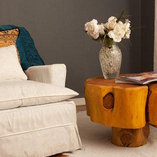 Minimalist living room photo in Philadelphia