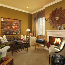 Traditional Living Room by Interiors by Cary Vogel
