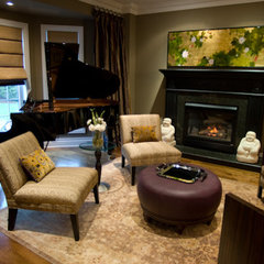 eclectic living room by Lucid Interior Design Inc.