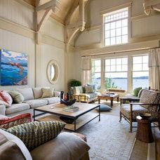 Beach Style Living Room by Lisa Stevens & Company, Inc.