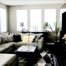 Contemporary Living Room by Cole Barnett Interiors