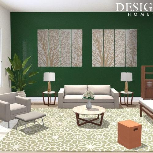 soggiorno con pareti verdi adelaide - foto e idee per arredare - Soggiorno Pareti Verdi 2