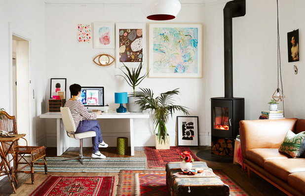 Eclectic Living Room by Sweet William