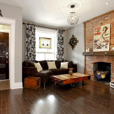 Eclectic Living Room by Realty Queen Toronto
