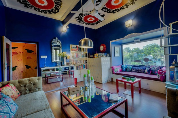 Eclectic Family Room by Shan Bhatnagar Designs