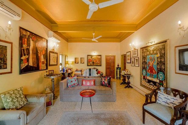 Indian Living Room by Shan Bhatnagar Designs