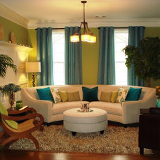 Eclectic Living Room by A B Xpress