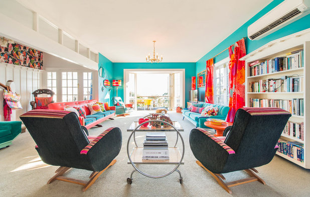 Eclectic Living Room by Blue Scarlet