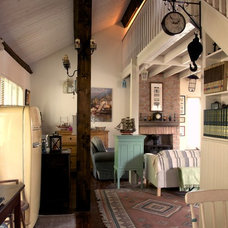 Rustic Living Room by Clikring